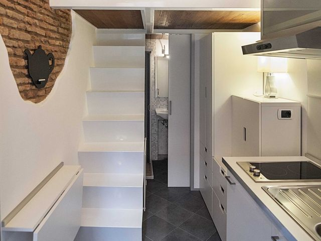 interior of the smallest apartment 7 sq m