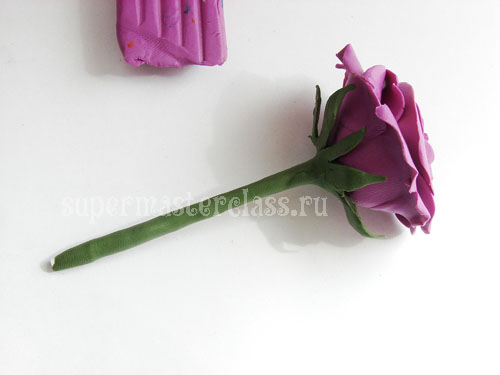 How to make a rose from plasticine with your own hands