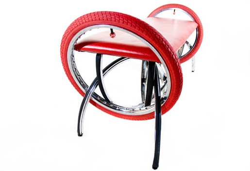 furniture from bicycle parts