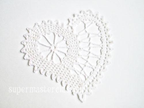 Плетене на една кука Brugge Lace: Салфетка