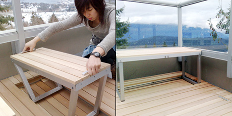 Sandy Lam integrated balcony furniture