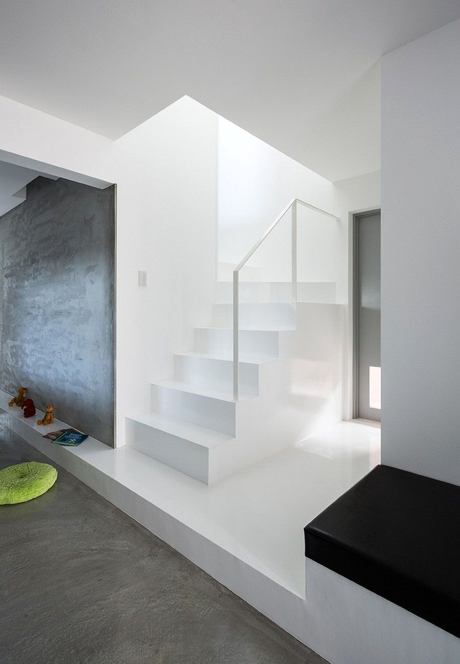 Japanese minimalism in the interior of the house scape house