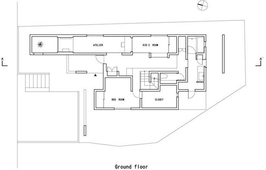 second floor plan of the house scape house