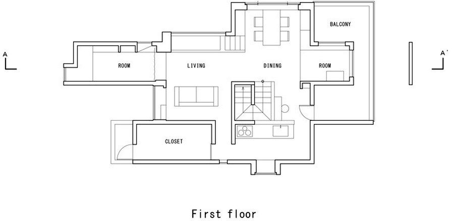 first floor plan of the house scape house
