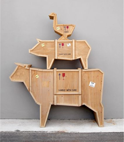 furniture in the form of farm animals