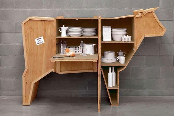 cupboard for dishes - furniture in the form of animals