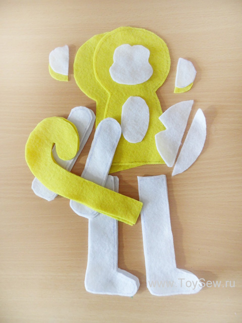 We sew monkey from fabric-4