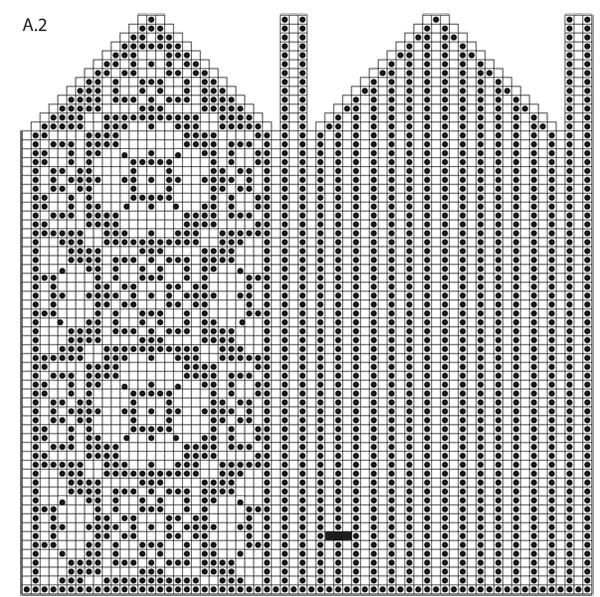 Схема вязания варежек спицами с орнаментом схемы 116