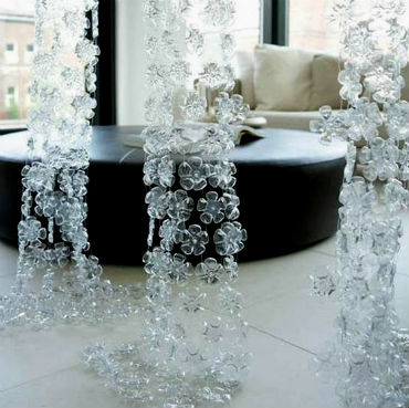 Curtains from plastic bottles