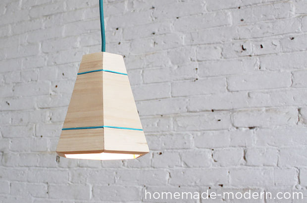 Cute homemade lamp from boards