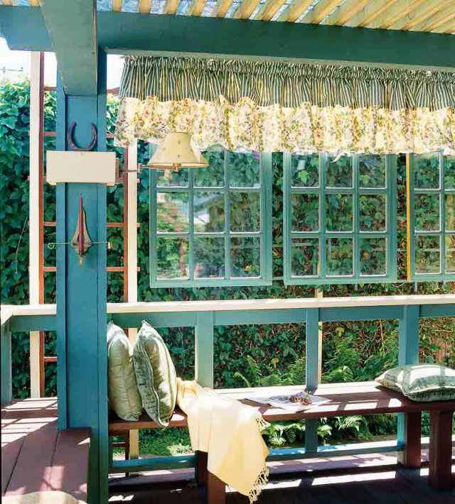 windows on the veranda