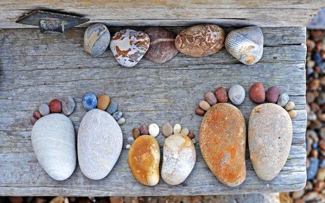 Крака - камъче декор със собствените си ръце