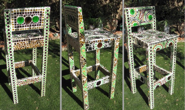 Mosaic with their own hands - the decor of the chair, Dina Fried