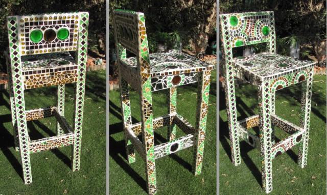 мозаїка своїми руками - декор стільця, Діна Фрід