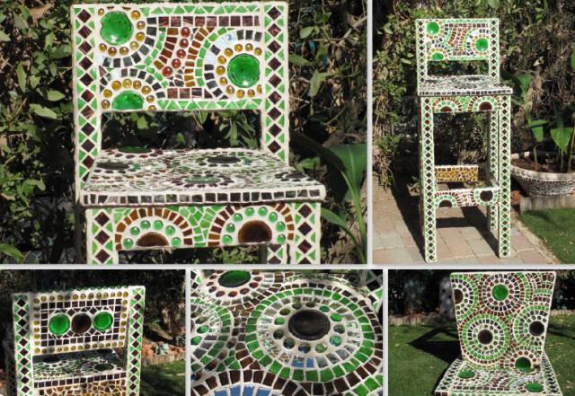 мозаїка своїми руками на стільці