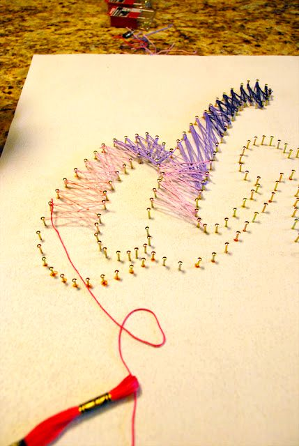 Master-class string-art with their own hands