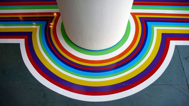 floor decor with vinyl tapes from Jim Lambie