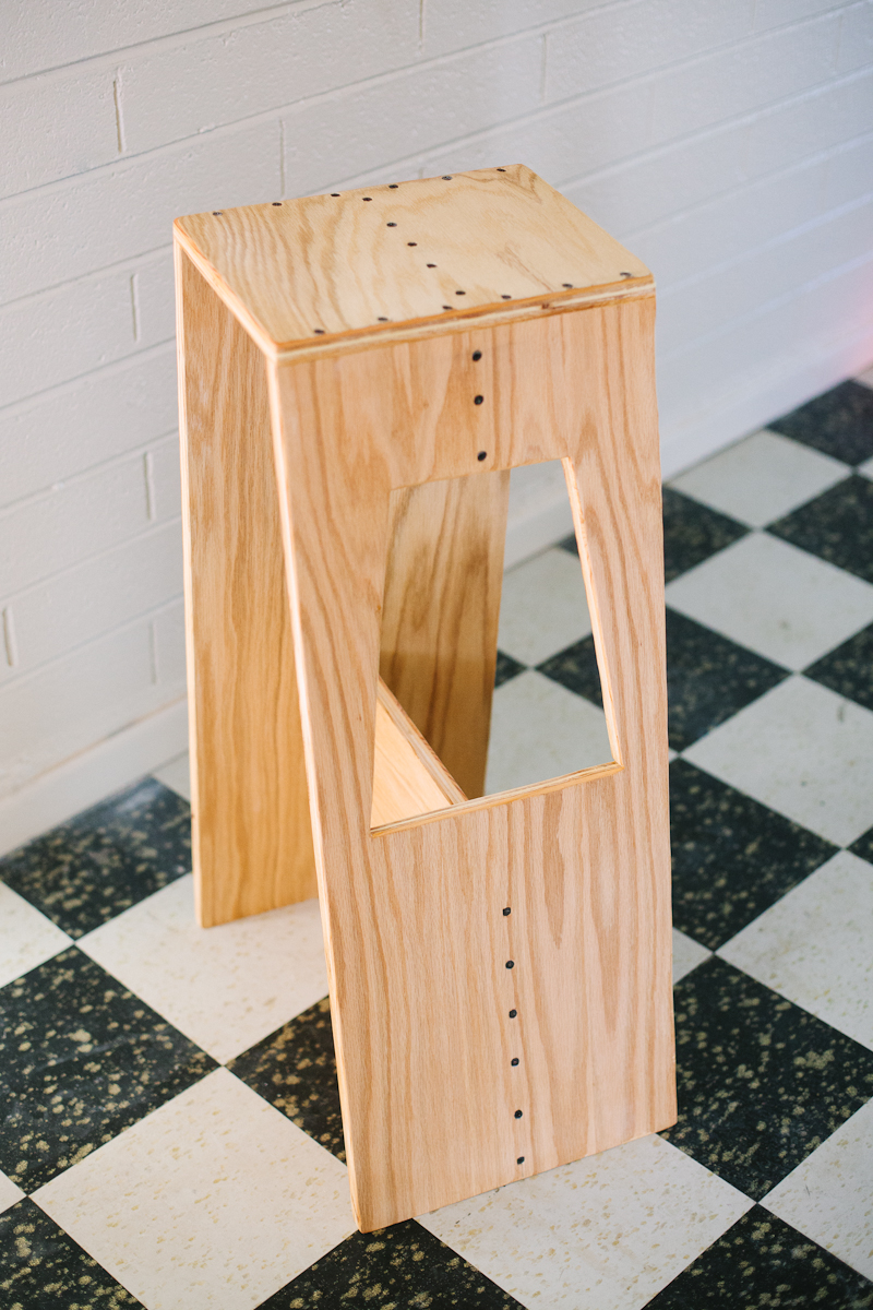 Wooden chair for a high table by own hands