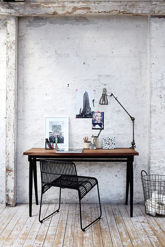 Office table in industrial style