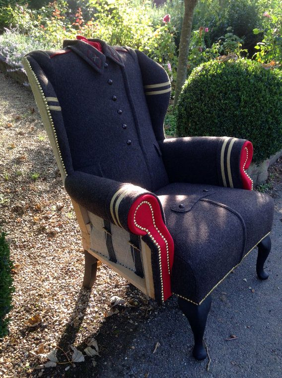 seat upholstery from a Soviet overcoat