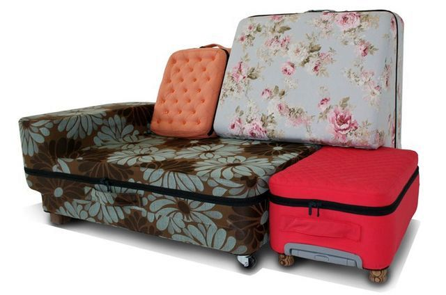 sofa from suitcases