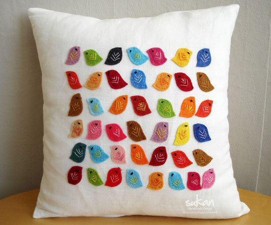 decorative pillow Birds, Sukan Art