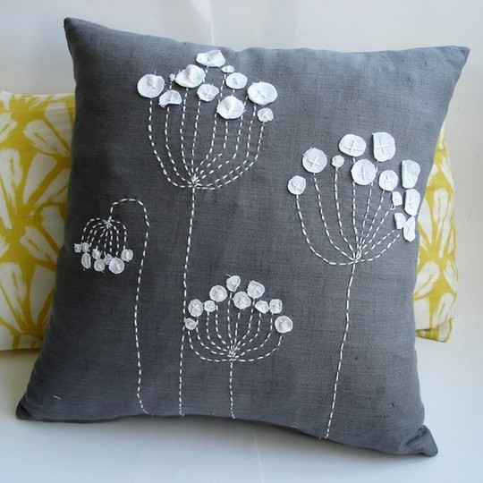 decorative pillow Blue Linen, Sukan Art