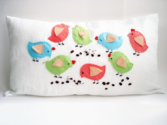 decorative pillow Big Birds, Sukan Art