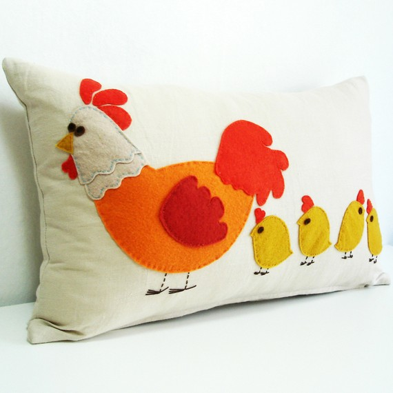 decorative pillow Chiken, Sukan Art
