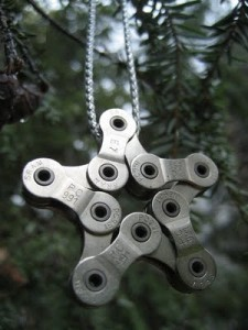 Souvenir from the bicycle chain.