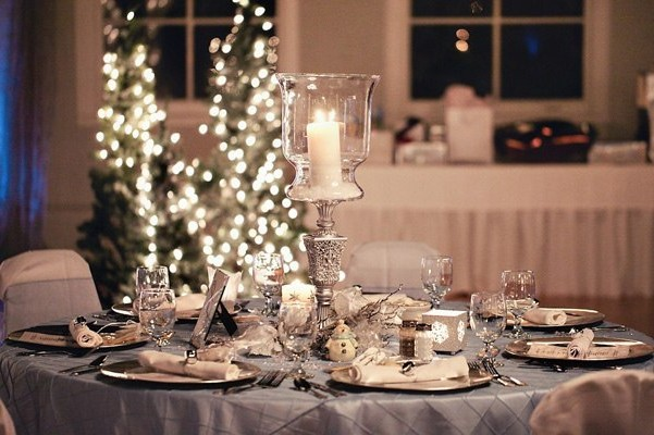 The serving has become a winter wedding