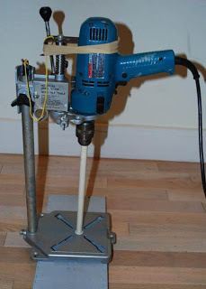 Homemade drilling machine.