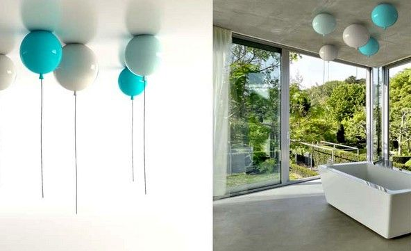 ceiling lights in the form of balloons memory light