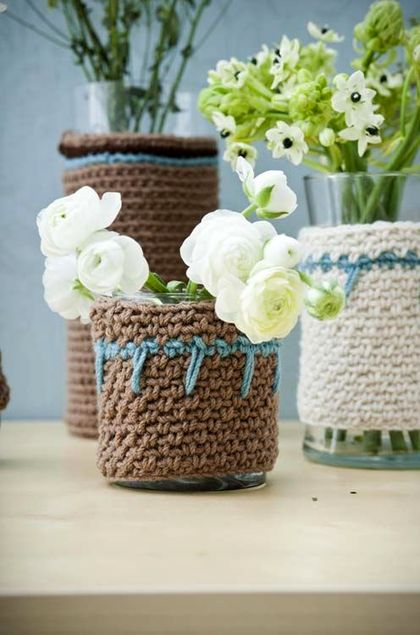 Woolen covers for furniture and vases
