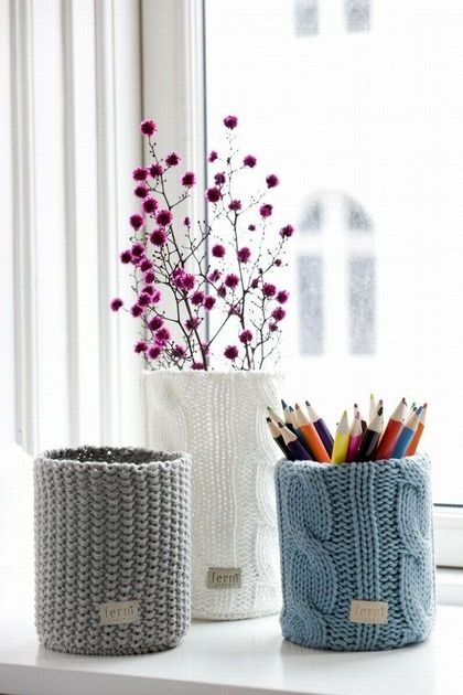knitted cushion covers for vases