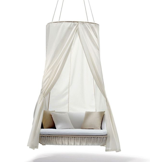 outboard sofa swing with canopy for garden and summer residence
