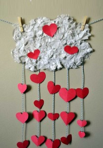 Surprise your beloved hands. Decor for Valentine's Day.