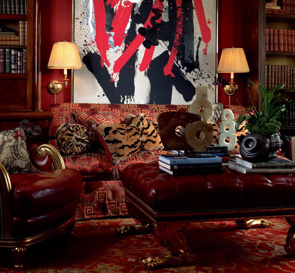 Tiger prints in the living room