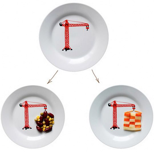 Children's plates with a picture
