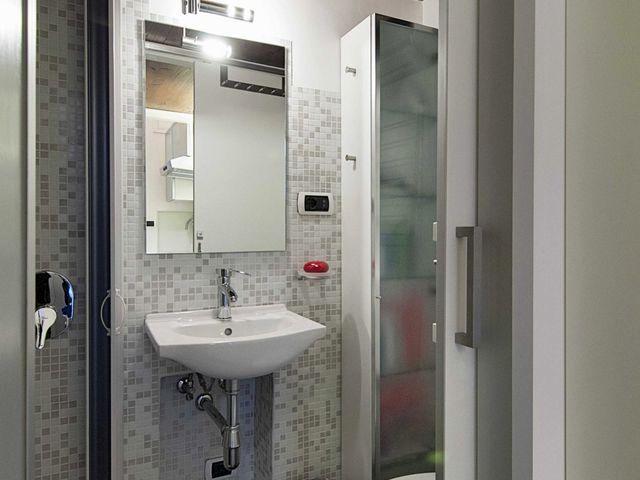 badeværelse interiør i en lille lejlighed