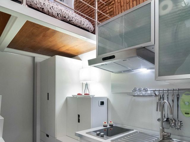 kitchen area of a small apartment 7 sq m