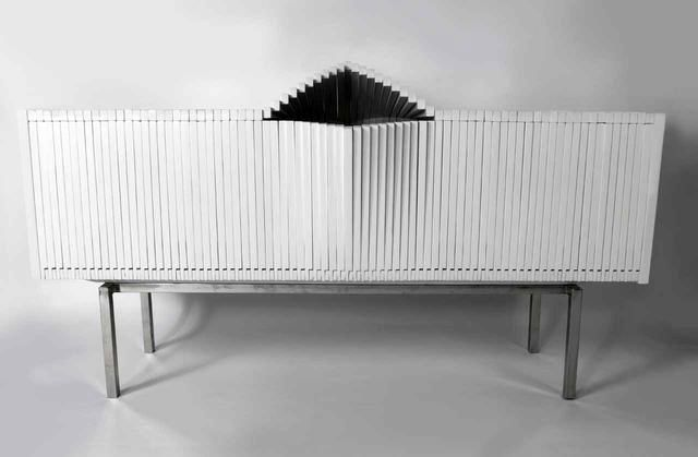 Sculptural wardrobe chest of drawers The Wave