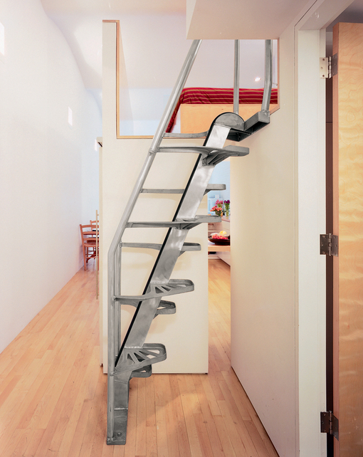 compact staircase to the attic