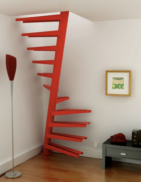 Helical compact staircase