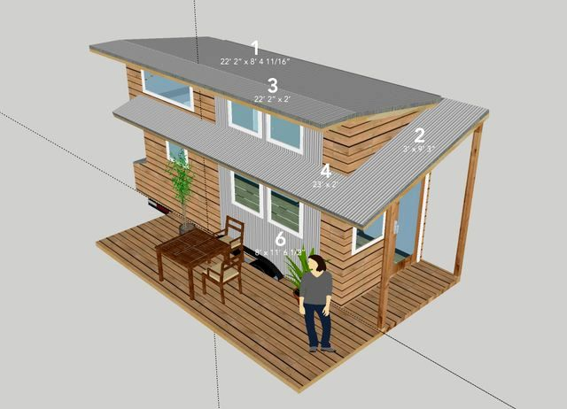 Outboard plan of the house on wheels