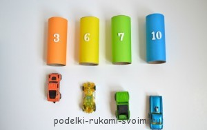 5 simple hand-made articles from coils for classes with children. Learn the numbers.