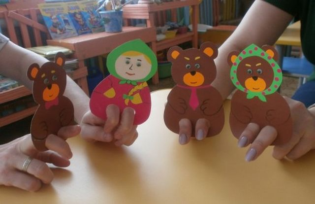Dolls for a Tale Three Bears from a Paper Step 2