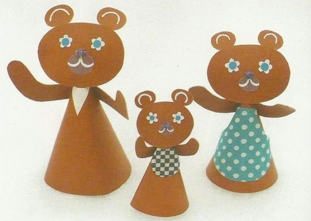 Dolls for a Tale Three Bears from a Paper Step 3