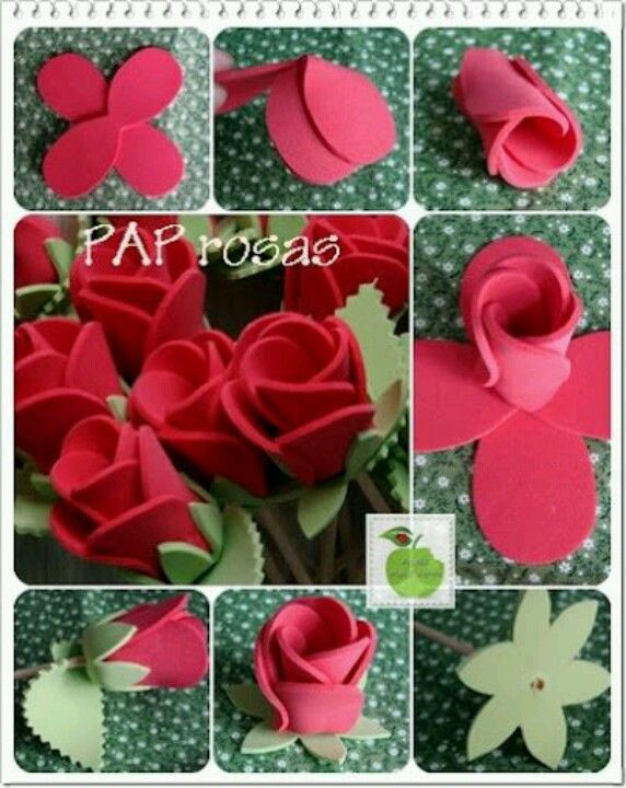 Flowers from Foamiran with their own hands are a master class. MK from Foma.