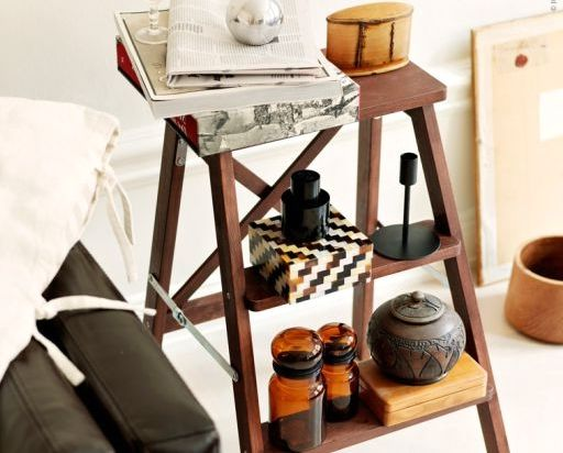 bedside table with your hands from the stairs
